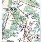 Mill Spring or Logan Battle Kentucky 1862 Civil War map by Sneden