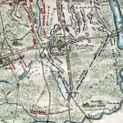 Position at Chancellorsville 3 May 1863 Civil War map by Sneden