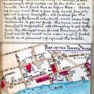 War Plan of Libby Prison Escape Tunnel 1864 Civil War map by Sneden
