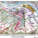 Attack Plan on Marie's Heights Fredericksburg Virginia Civil War map by Sneden