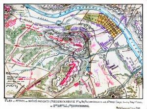 Plan on Maries Heights Fredericksburg Virginia Civil War map by