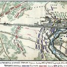 Battle of Savage's Station Virginia 1862 Civil War map by Sneden