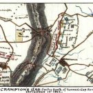 Battle of South Mountain or Crampton's Gap Maryland 1862 Civil War map by Sneden