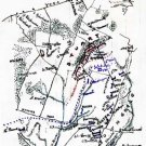 Cavalry Battle Gettysburg Pennsylvania Civil War map by Sneden