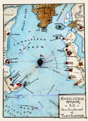 Charleston Harbor Fort Sumter Bombardment South Carolina 1861 Civil War Map By Sneden