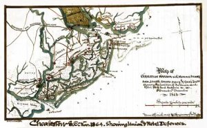 Charleston Harbor Union And Rebel Forts Batteries South