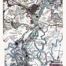 Defenses of Savannah Georgia 1864 Civil War map by Sneden