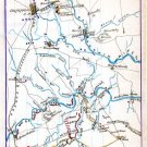 Field of Operations Location Union and Rebels 1863 Civil War map by Sneden