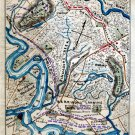 March from Malvern Hill to Harrison's Landing Virginia 1862 Civil War map by Sneden