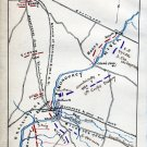 Plan of Monocacy Battle Maryland July 1864 Civil War map by Sneden