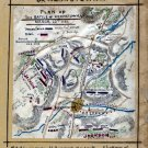 Plan of the Battle of Kernstown Virginia March 23 1862 Civil War map by Sneden