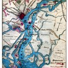 Rebel Defenses of Savannah Georgia November 1864 Civil War map by Sneden