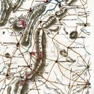 General Sheridan Shenandoah Valley Campaign Virginia 1864 Civil War map by Sneden
