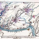 Sketch of Maneuvers on Antietam and Sharpsburg Maryland 1862 Civil War map by Sneden