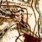 Union and Rebel at Rappahannock and Rapidan Rivers Civil War map by Sneden