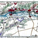 Union Assault on Rebel Works Lee's Mill Virginia Civil War map by Sneden
