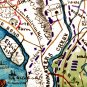 Union Position Harrison's Landing Gunboats Virginia 1862 Civil War map by Sneden
