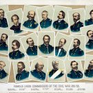 Famous Union Commanders of the Civil War 1861-1865 art print