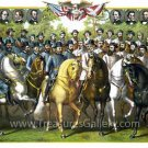 Union Confederate Gen. Statesmen Civil War canvas print Kurz & Allison