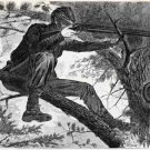 Sharpshooter on Picket Duty drawing canvas art print Winslow by Homer