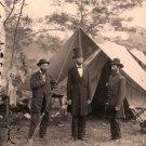 President Abraham Lincoln Allan Pinkerton General John McClernand Antietam Civil War photo art print