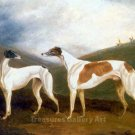 Greyhounds in Front of the Hunt 1829 dogs canvas art print by Cooper