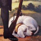 Sleeping Dog Canvas art print by Francisco de Goya