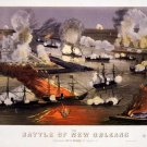 Naval Battle of New Orleans 1862 Civil War art print