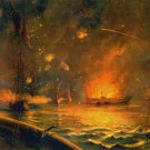 Naval Port Hudson Bombardment Louisiana canvas art print by Packbauer