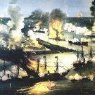 Splendid Naval Triumph Civil War canvas art print Currier and Ives