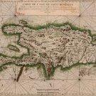 Hispaniola Santo Domingo Dominican Republic Haiti map 1764 by Bellin