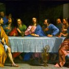 The Last Supper Christian Apostles Canvas art print by De Champaigne