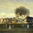 Fort Sumter Confederate Explodes Harbor Civil War art print Vizitelly