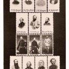 Confederate Dead stamps Civil War art photo portrait print poster by Mathew Brady