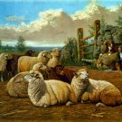The Faithful Shepherds 1897 sheep dog domestic animal canvas art print by Arthur Fitzwilliam Tait