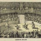 Cuba Cuban cockfight cockfighting cock rooster Juego de Gallos 1853 art print