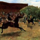 False Start 1869 horses equestrian canvas art print by Edgar Degas
