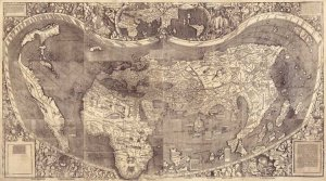 Universalis Cosmographia world map 1507 by Martin Waldseemüller