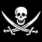 Jolly Roger pirate skull flag art print