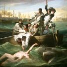 Watson and the Shark Cuba Cuban Caribbean canvas art print by John Singleton Copley