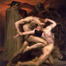 Dante et Virgile aux Enfers Dante and Virgil in Hell canvas art print by Bouguereau