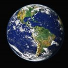 Earth from Space Western Hemisphere satellite photo photograph art Print