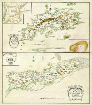 St Thomas St Croix Danish West Indies Us Virgin Islands 1734 Plantation Caribbean Map