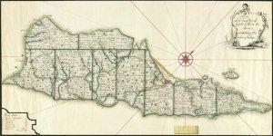 St Croix Danish West Indies Us Virgin Islands 1766 Plantation Caribbean Map