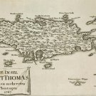 St Thomas Danish Virgin Islands 1767 plantation map Küssner Kussner