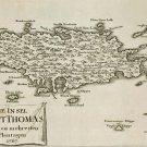 St Thomas Danish Virgin Islands 1767 plantation map Küssner Kussner