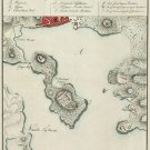 St. Thomas Harbor Danish West Indies US Virgin Islands 1800 Caribbean map by Lundbye