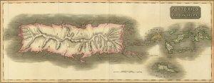 Porto Puerto Rico British US Virgin Islands Danish WI 1815 map Thomson