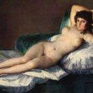 La Maja II woman canvas art print by Francisco de Goya
