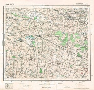 Vilkaviskis Lithuania 1932 fine art canvas map